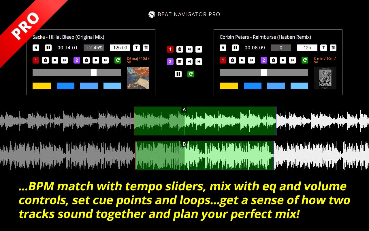 Beat Navigator Pro – Beatport Pro Chrome Extension